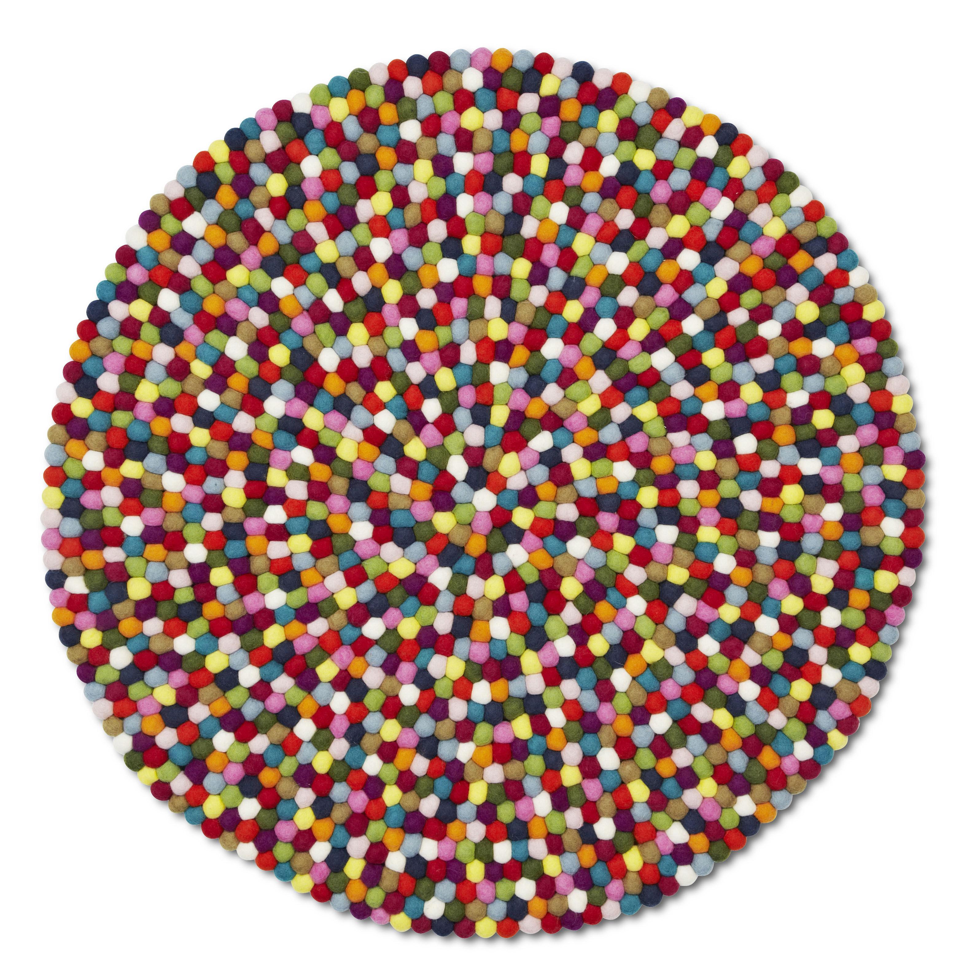 Möbel - Teppiche - Pinocchio Teppich Ø 90 cm - Hay - Mehrfarbig - Ø 90 cm - Wolle