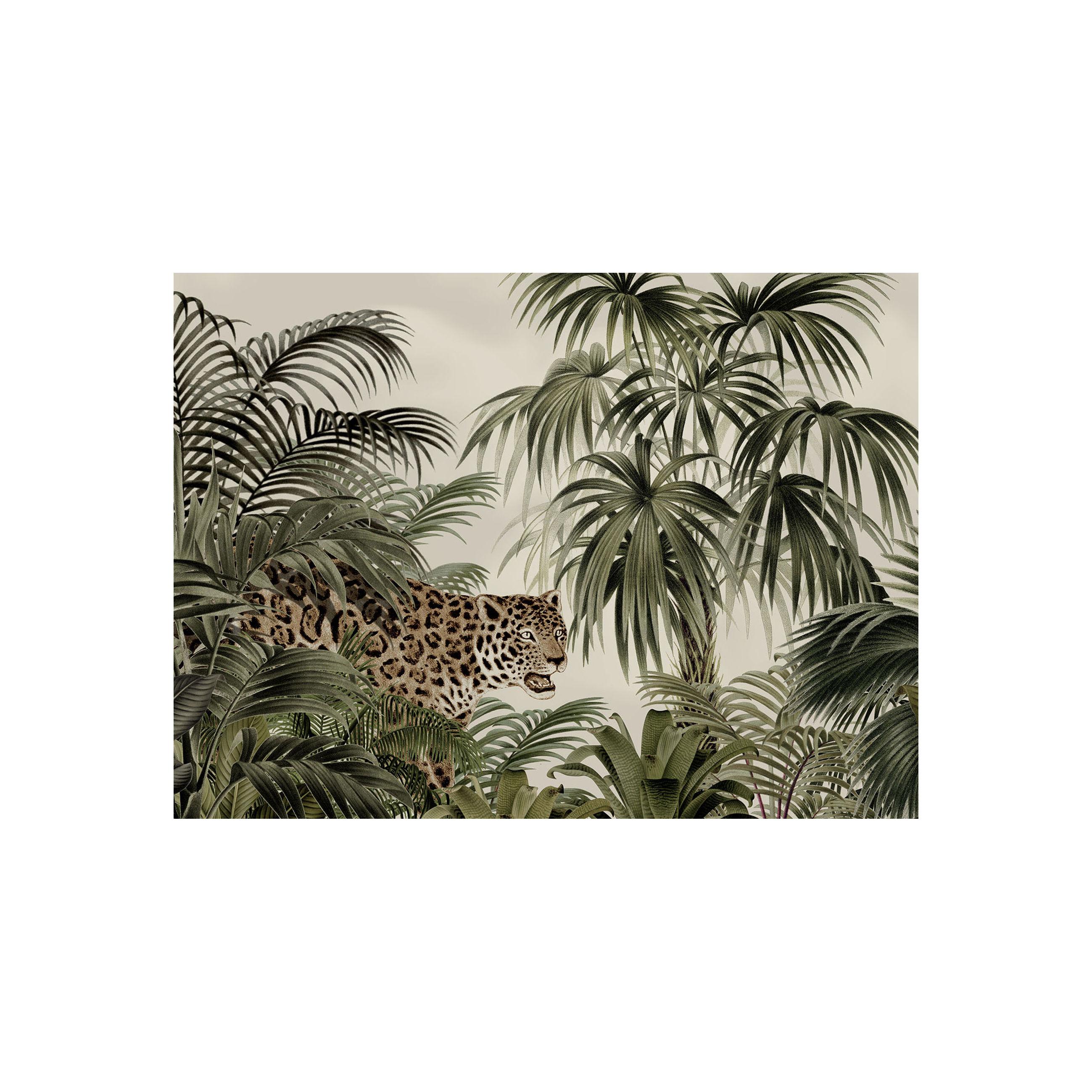 Tischkultur - Tischdecken und -servietten - Tresors Tisch-Set / Vinyl - Beaumont - Leopard / Grün & beige - Vinyl