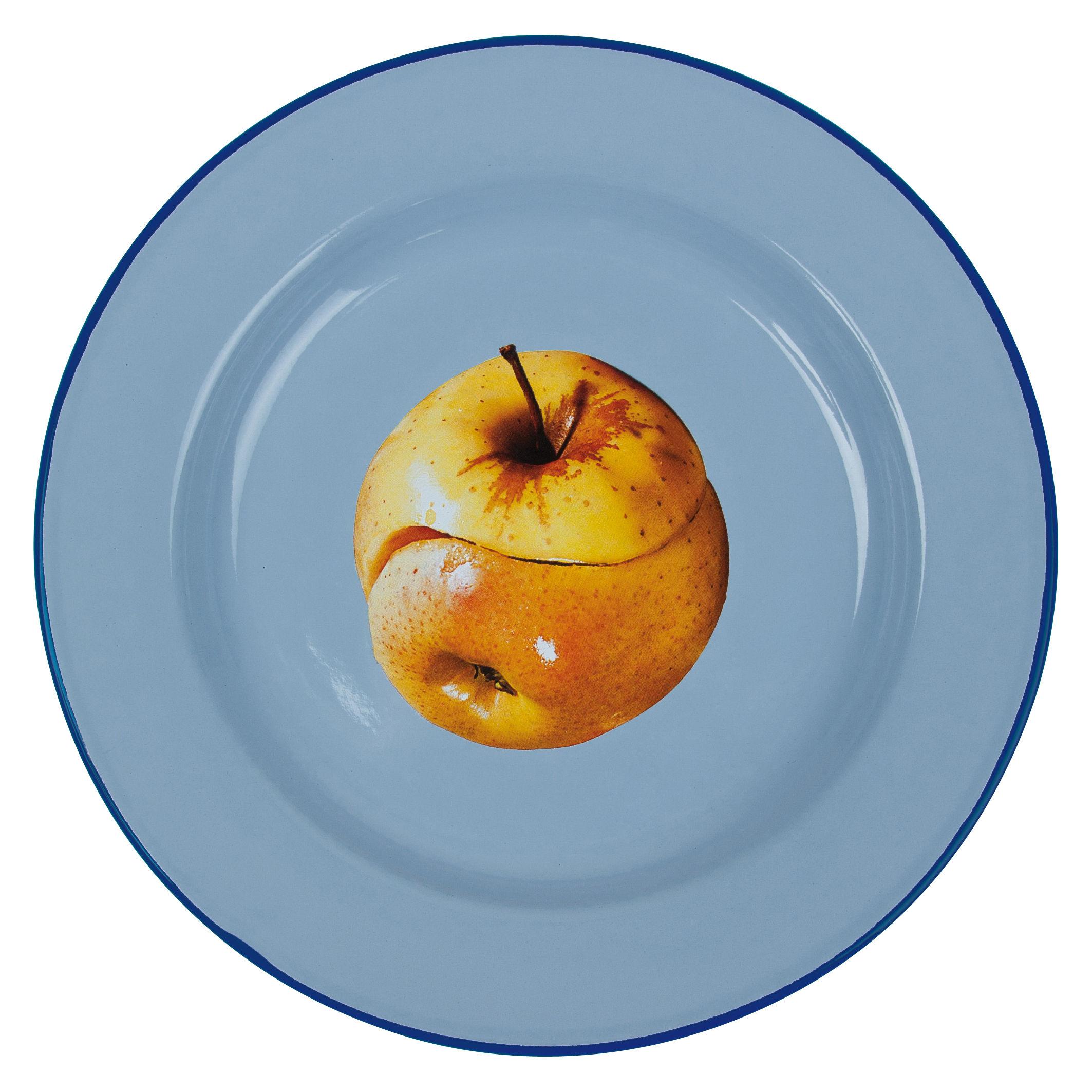 Arts de la table - Assiettes - Assiette Toiletpaper - Pomme / Métal - Seletti - Pomme - Métal émaillé