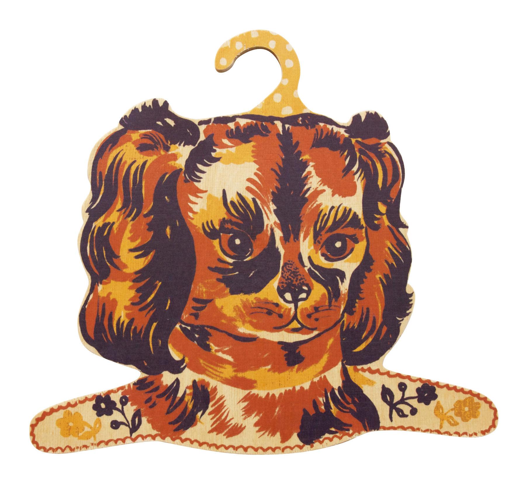 Interni - Per bambini - Attaccapanni Ouaf! di Domestic - Cane multicolore - Compensato di abete