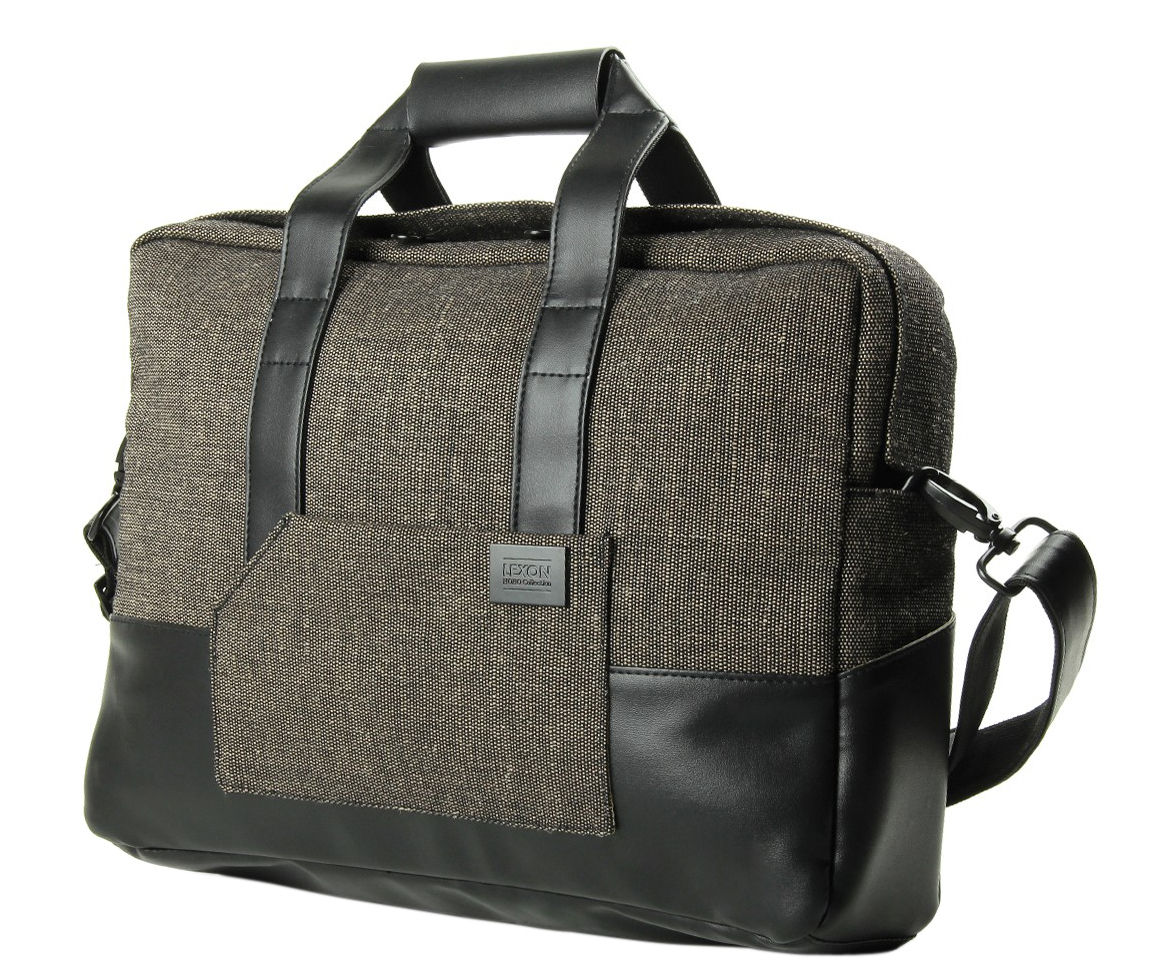 Accessories - Bags, Purses & Luggage - Hobo Briefcase by Lexon - brown - Recycled PET fibres
