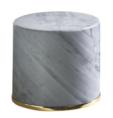 Cale-porte / Marbre - H 10 cm - Opinion Ciatti gris,or en pierre