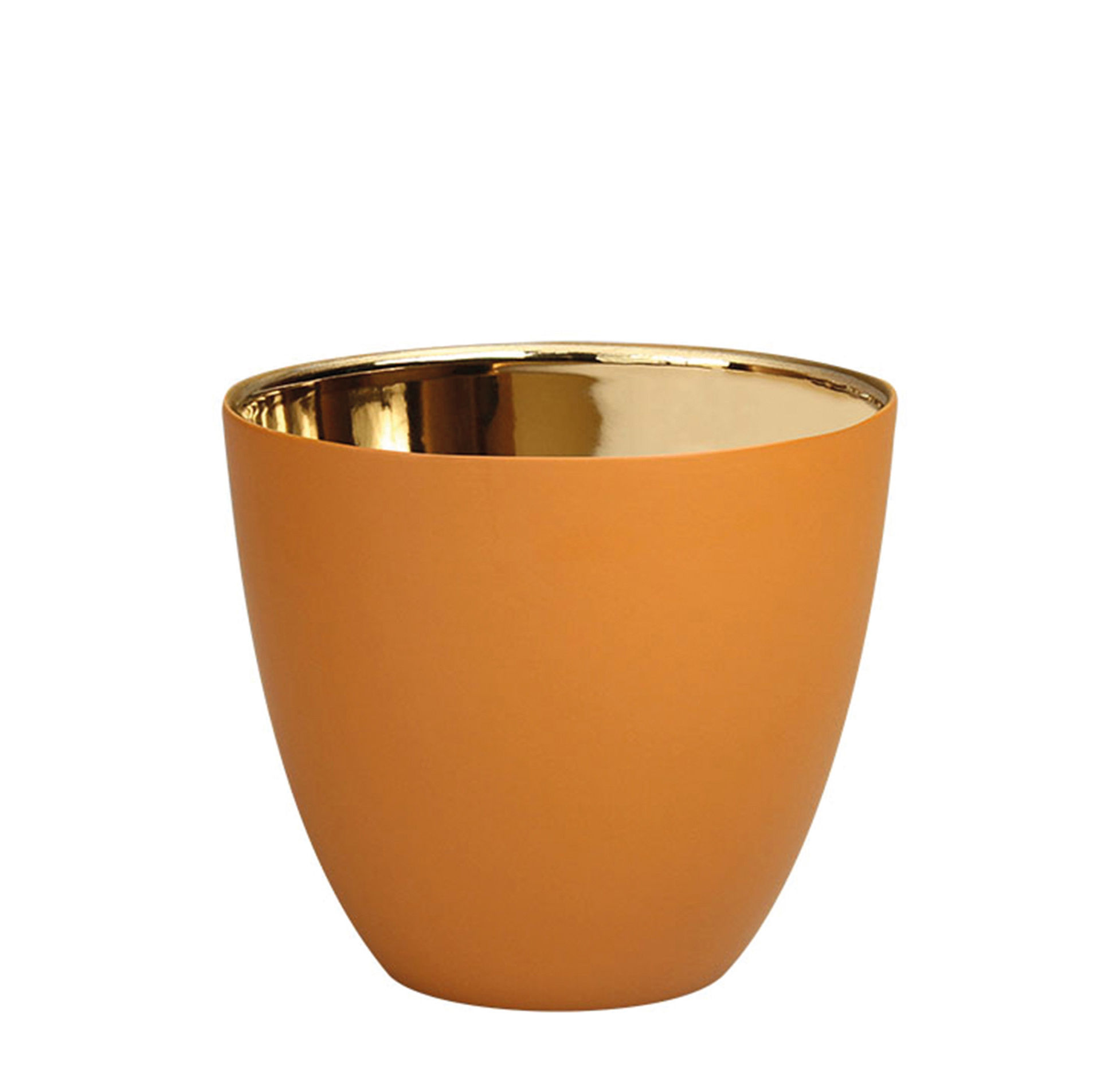 Decoration - Candles & Candle Holders - Summer Small Candle holder - / H 6.5 cm - Porcelain by & klevering - Hazelnut / Gold - China