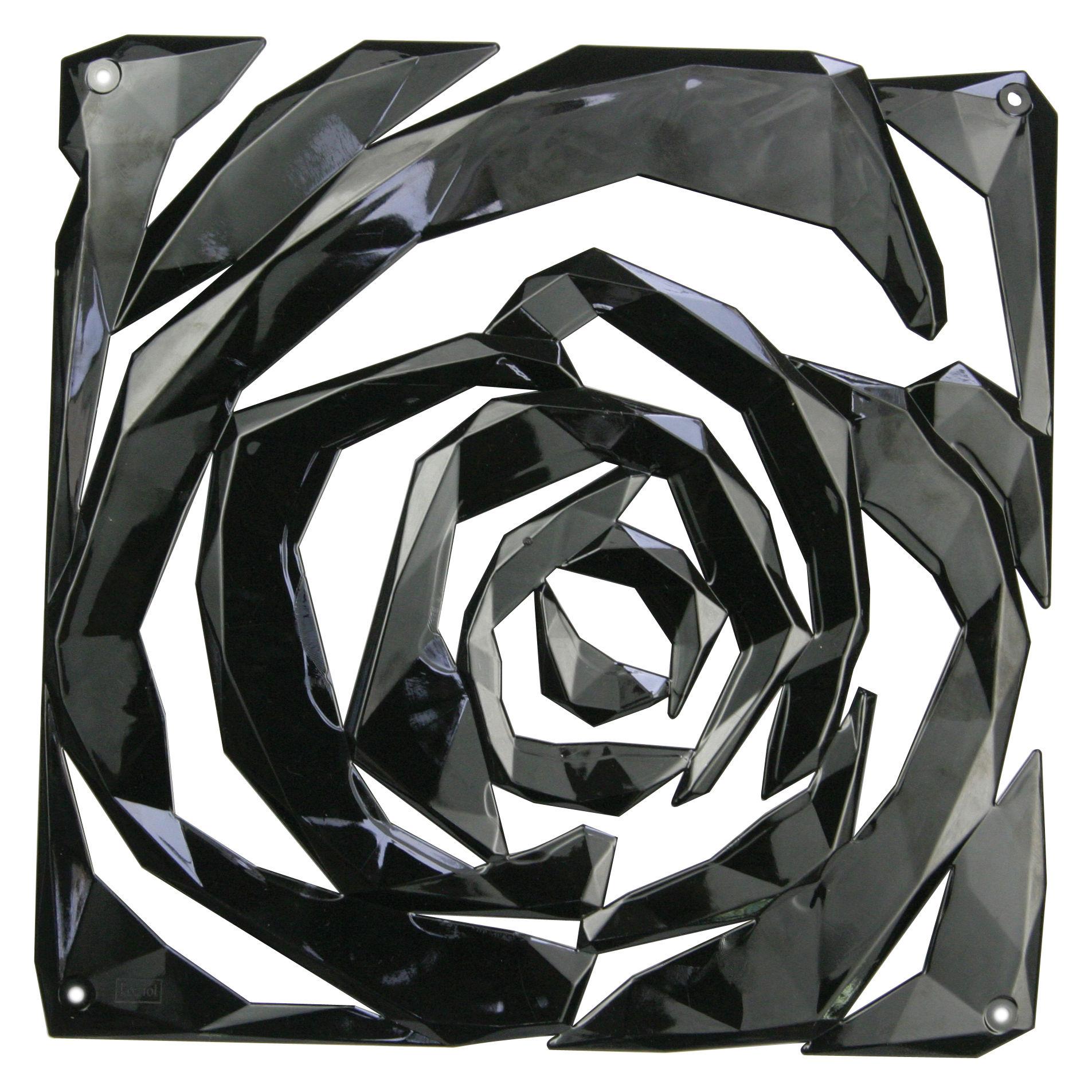 Mobilier - Paravents, séparations - Cloison Romance / Set de 4 - Crochets inclus - Koziol - Noir - Polycarbonate