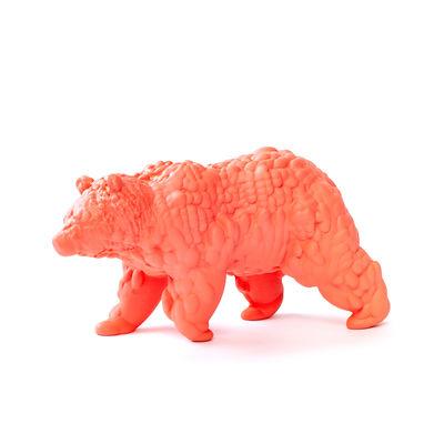 Decoration - Home Accessories - Orso Large Figurine - / 3D modelled ceramic - L28 cm by Moustache - Coral - Glazed ceramic