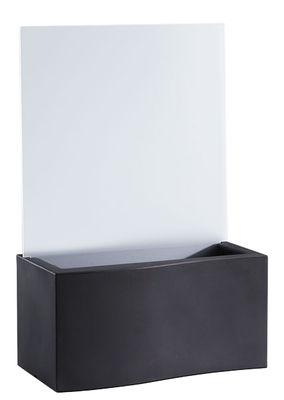 Outdoor - Vasi e Piante - Fioriera Privé - / L 86 cm di Slide - Nero - polietilene riciclabile