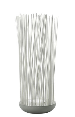 Lighting - Outdoor Lighting - Don't Touch Floor lamp - / For outdoor use - H 108 cm by Karman - Matt grey & white - PVC, Silicone, Technopolymer