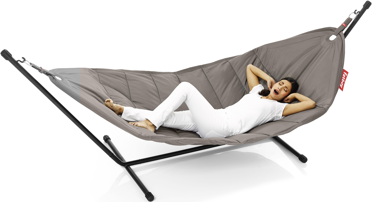 Jardin - Chaises longues et hamacs - Hamac Headdemock / Tissu polyester - Fatboy - Taupe - Acier, Polyester