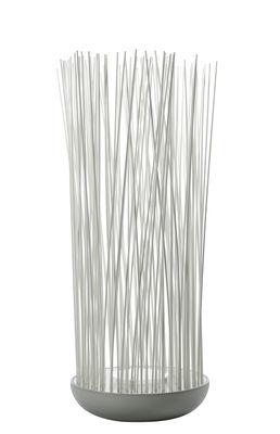 Illuminazione - Illuminazione da esterni - Lampada da pavimento Don't Touch - / Per l'esterno - H 108 cm di Karman - Grigio & bianco opaco - PVC, Silicone, Tecnopolimero