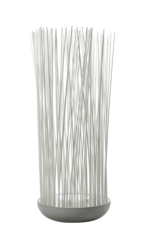 Luminaire - Luminaires d'extérieur - Lampe de sol Don't Touch / Pour l'extérieur - H 108 cm - Karman - Blanc / Base grise - PVC, Silicone, Technopolymère