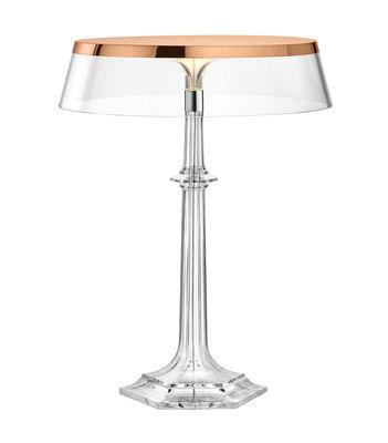 Luminaire - Lampes de table - Lampe de table Bon Jour Versailles Large / LED - H 42 cm - Flos - Cuivre / Transparent - PMMA
