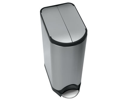 Kitchenware - Bins - Deluxe Butterfly Pedal bin - step can - 30 liters by Simple Human -  - Brushed stainless steel