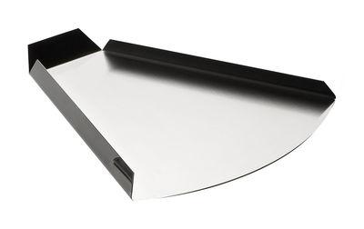 Arts de la table - Plateaux - Plateau Un attimo prima triangulaire - Serafino Zani - Acier brillant extérieur / Mat intérieur - Acier inoxydable
