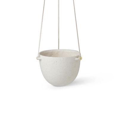 Déco - Pots et plantes - Pot suspendu Speckle Large / Grès - Ø 20,5 x H 14,5 cm - Ferm Living - Ø 20,5 / Blanc cassé - Grès
