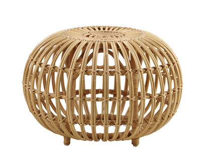Furniture - Poufs & Floor Cushions - Ottoman Pouf - Ø 55 cm / Reissue 1951 by Sika Design - Ø 55 cm / Natural - Rattan