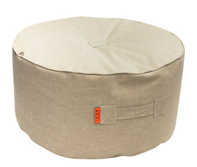 Furniture - Poufs & Floor Cushions - Tiny Moon Pouf - Ø 70 cm by Trimm Copenhagen - Beige - Cloth