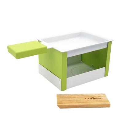 Set Yeti / Pour raclette à la bougie - 1 personne - Cookut vert en métal