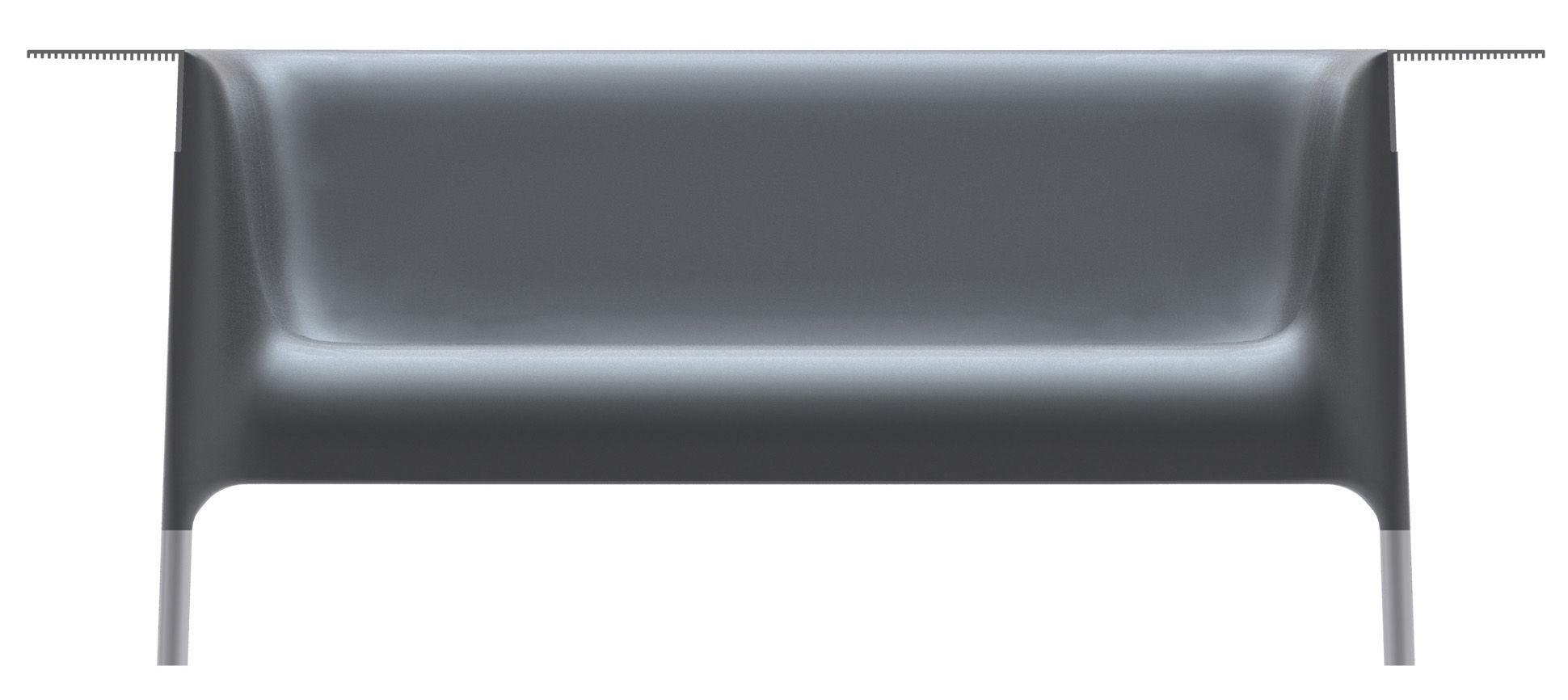 Outdoor - Poltrone e Divani - Sofà Out-In di Driade - Nero antracite - Alluminio anodizzato, Polietilene