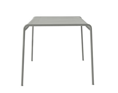 Outdoor - Garden Tables - Palissade Square table - 80 x 80 - R & E Bouroullec by Hay - Light grey - Electro galvanized steel, Peinture époxy