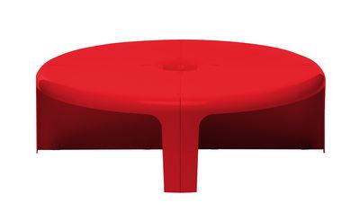 Mobilier - Tables basses - Table basse 4-4 / Etagère - Set 4 éléments modulables - B-LINE - Rouge - ABS