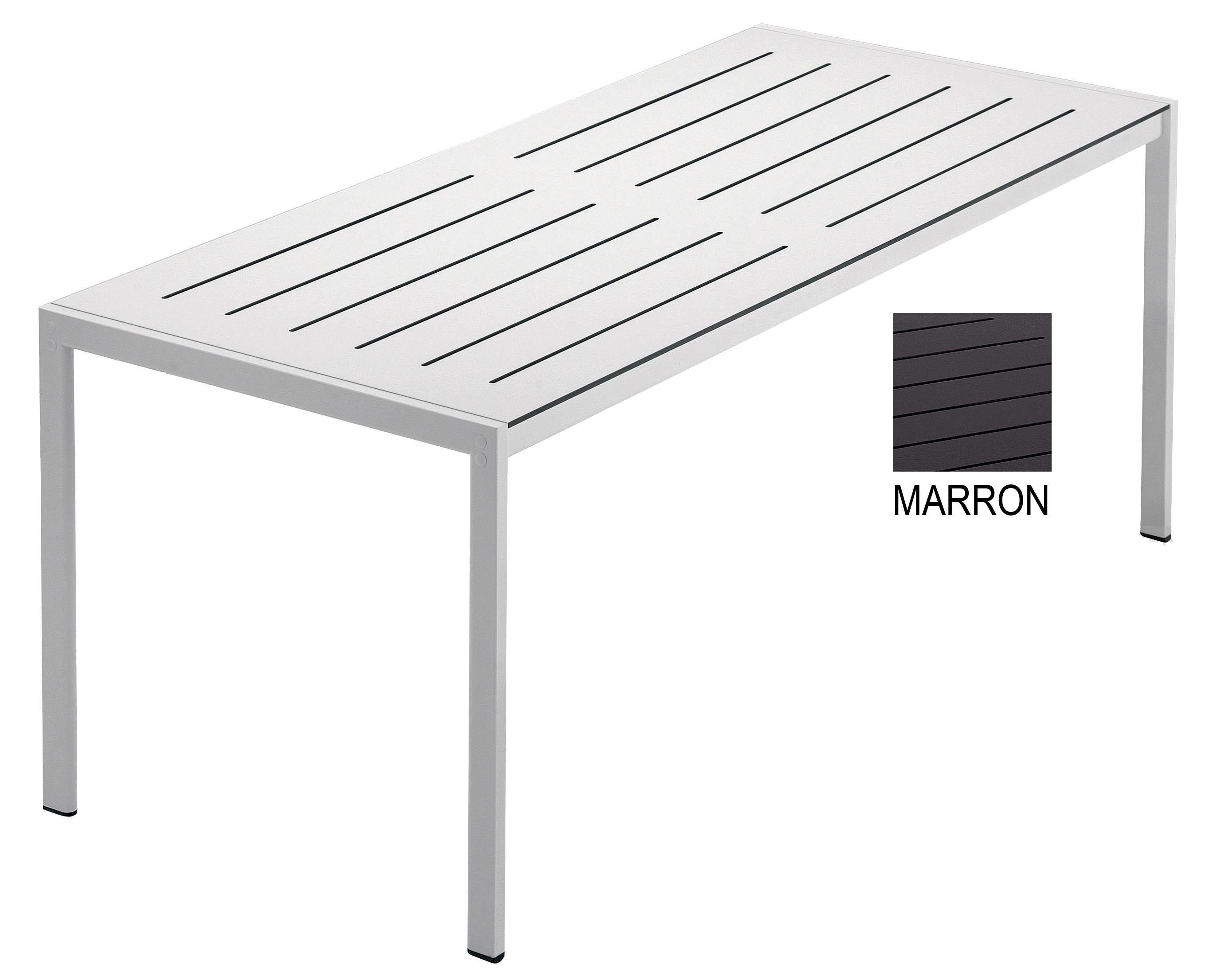 Table de jardin Sanmarco / 180 x 80 cm Marron - 80 x 180 cm ...