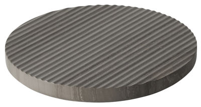 Tableware - Table Mats & Trivets - Groove Tablemat - / Large - Ø 21,6 cm by Muuto - Grey - Marble