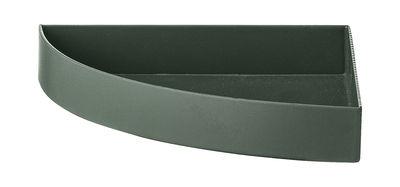 Tischkultur - Tabletts - Unity Tablett / Viertelkreis - L 11 cm - AYTM - Waldesgrün - Fer peint