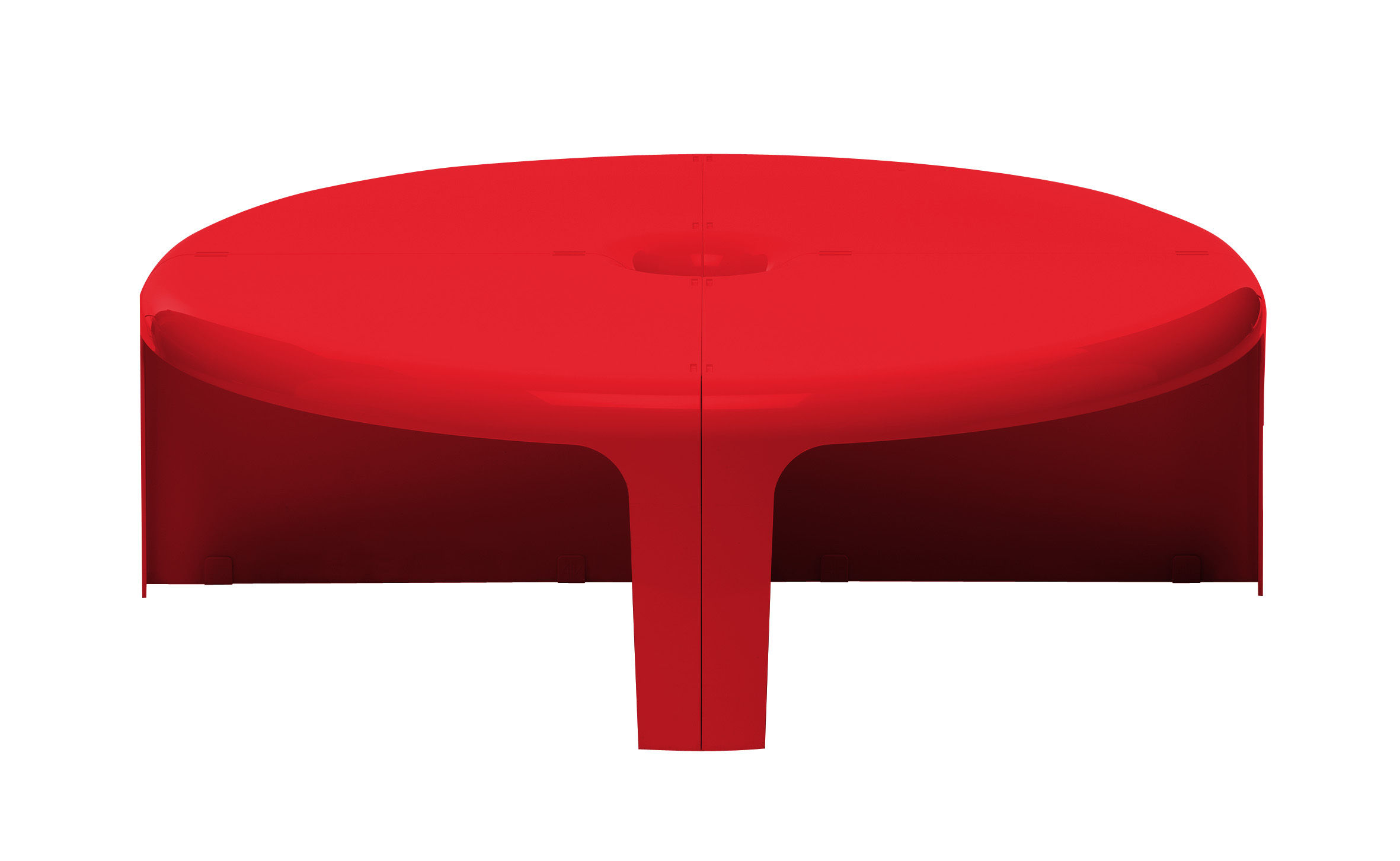 Arredamento - Tavolini  - Tavolino 4-4 - / Scaffale - Set 4 elementi modulabili di B-LINE - Rosso - ABS
