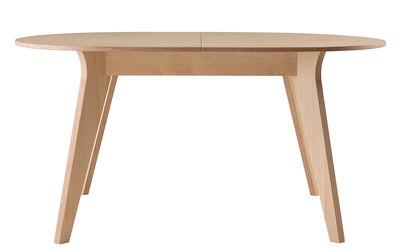 Arredamento - Tavoli - Tavolo con prolunga Mikado / L 140 a 180 cm - Ondarreta - Faggio tinto / Base betulla - Betulla, Faggio