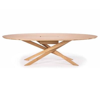 Arredamento - Mobili da ufficio - Tavolo da riunione Mikado - / Scrivania per riunioni - L 267 cm / Rovere massello di Ethnicraft - Rovere - Rovere massello