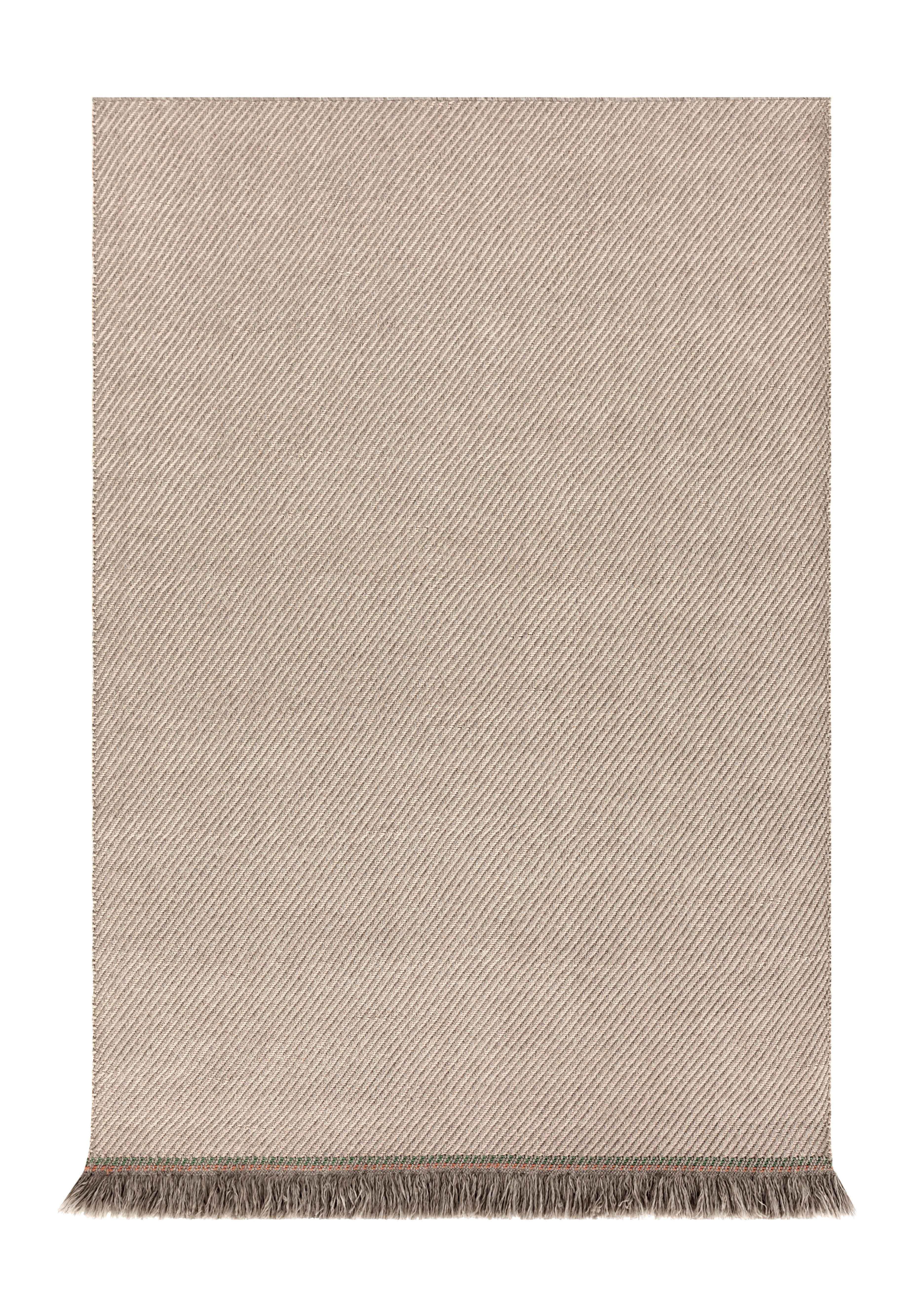 Dekoration - Teppiche - Garden Layers Teppich / 180 x 240 cm - Gan - Diagonale Linien / mandel- & elfenbeinfarben - Polypropylen