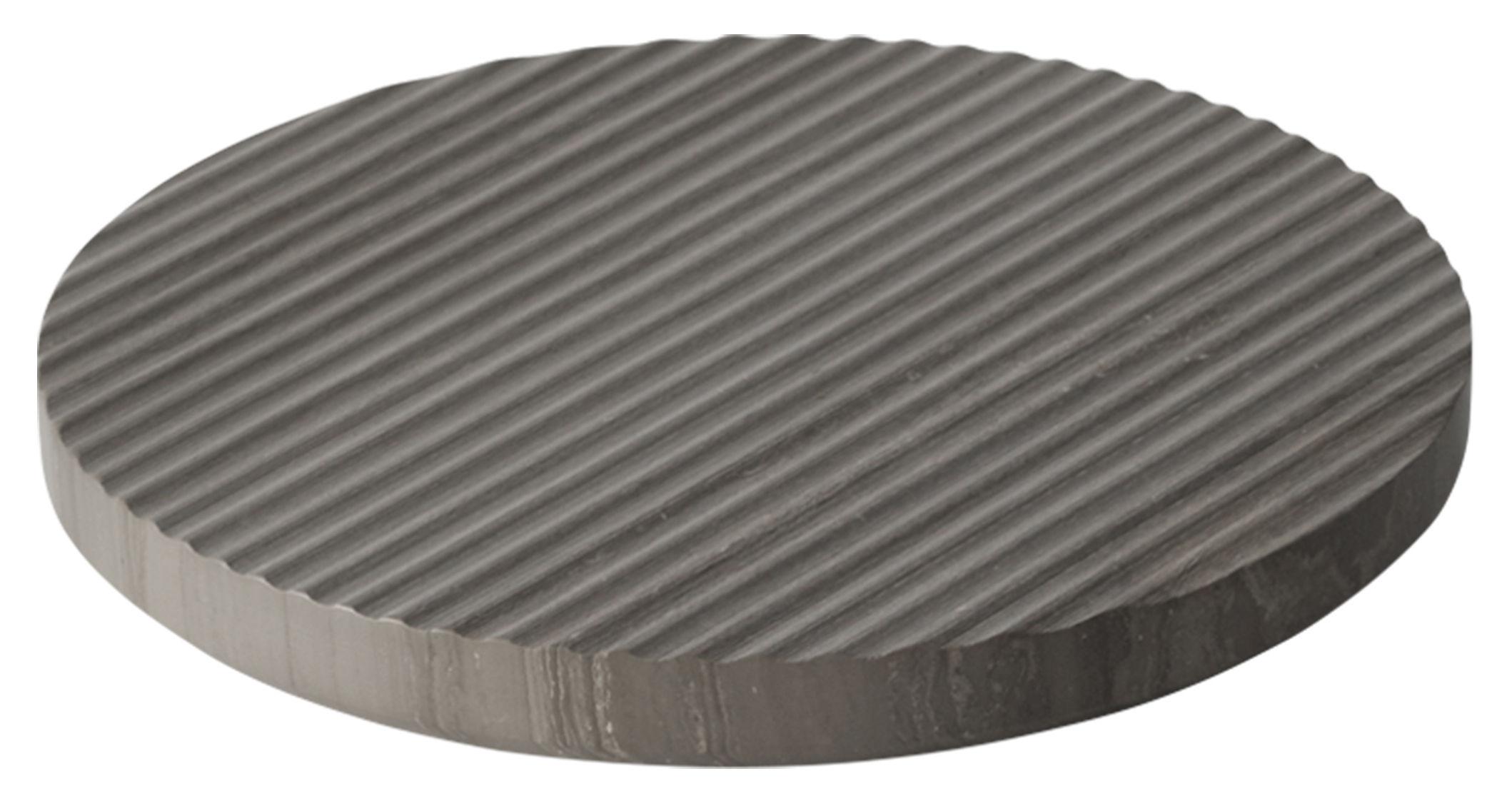 Tischkultur - Topfuntersetzer - Groove Topfuntersetzer / groß Ø 21,6 cm - Marmor - Muuto - Grau - Marmor