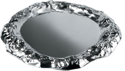 Tableware - Trays - Fingernail's work Tray by Alessi - Polished metal - Stainless steel