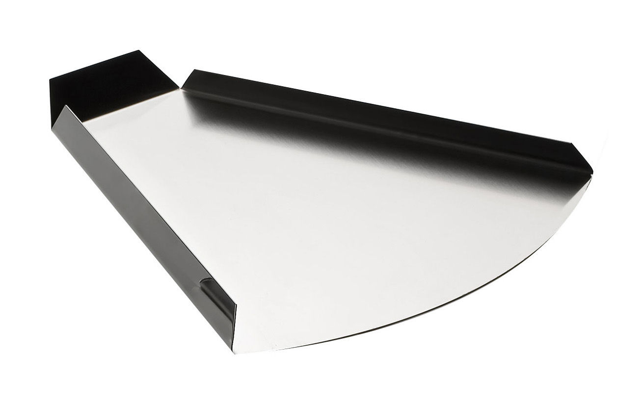 Tableware - Trays - Un attimo prima Tray - triangular by Serafino Zani - Polished steel outside / Mat seel inside - Stainless steel