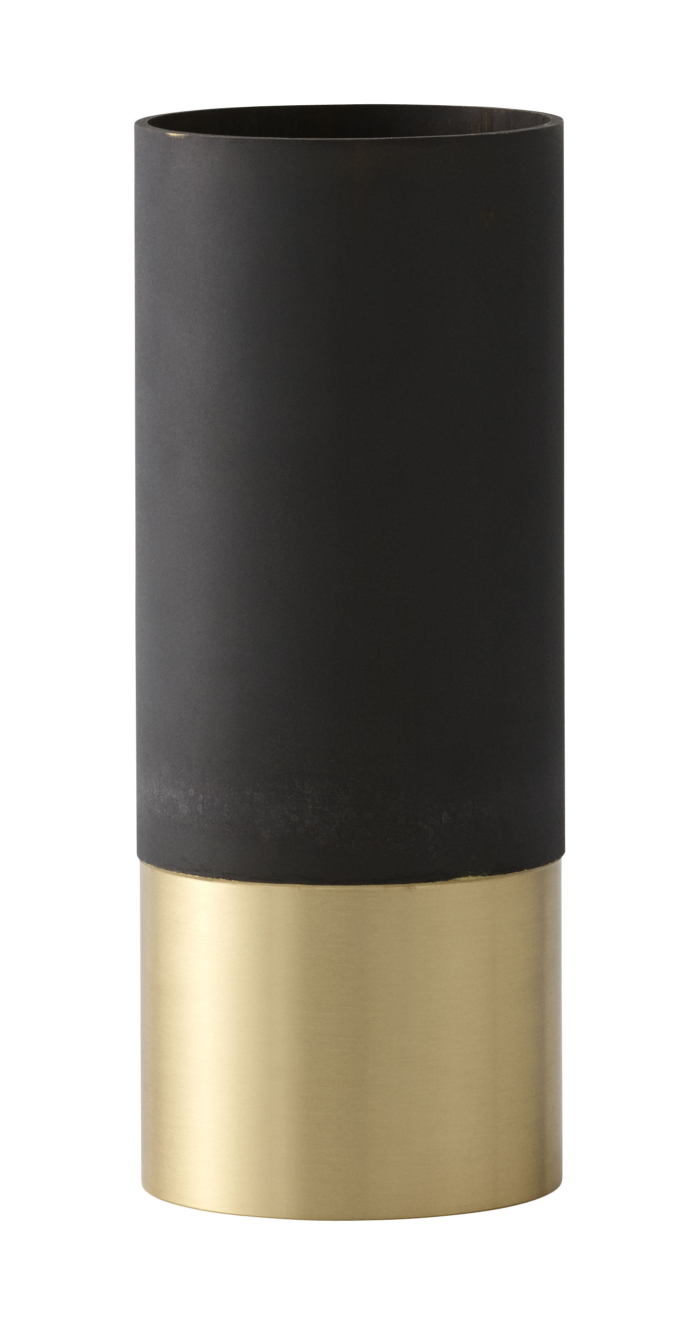 Déco - Vases - Vase True Colour LP6 / Laiton - Ø 6,5 x  H 16 cm - &tradition - Laiton & noir - Laiton