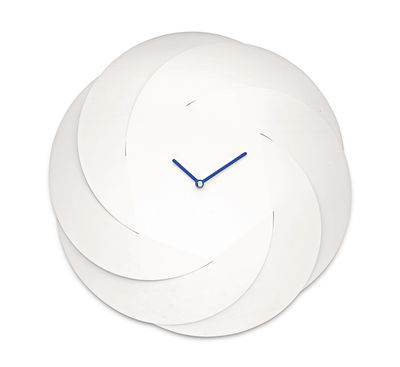 Decoration - Wall Clocks - Infinity Clock Wall clock - Ø 42 cm by Alessi - White / Blue - Steel