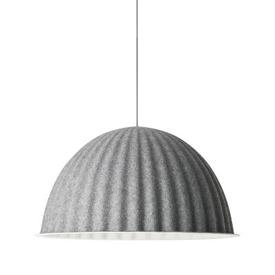Lighting - Pendant Lighting - Under the bell Acoustic suspension - Ø 82 cm by Muuto - Dark grey - Felt