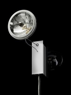 Luminaire - Appliques - Applique avec prise Use me W. - Ingo Maurer - Aluminium & acier - Acier