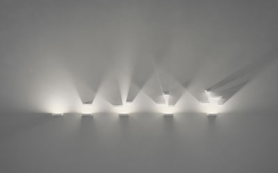 Set applique led l cm bianco by vibia made in design
