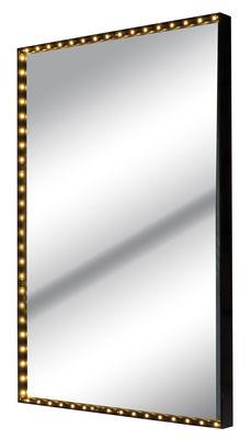 Applique Vanity square Large / Miroir - LED - 61 x 41 cm - Le Deun noir en métal