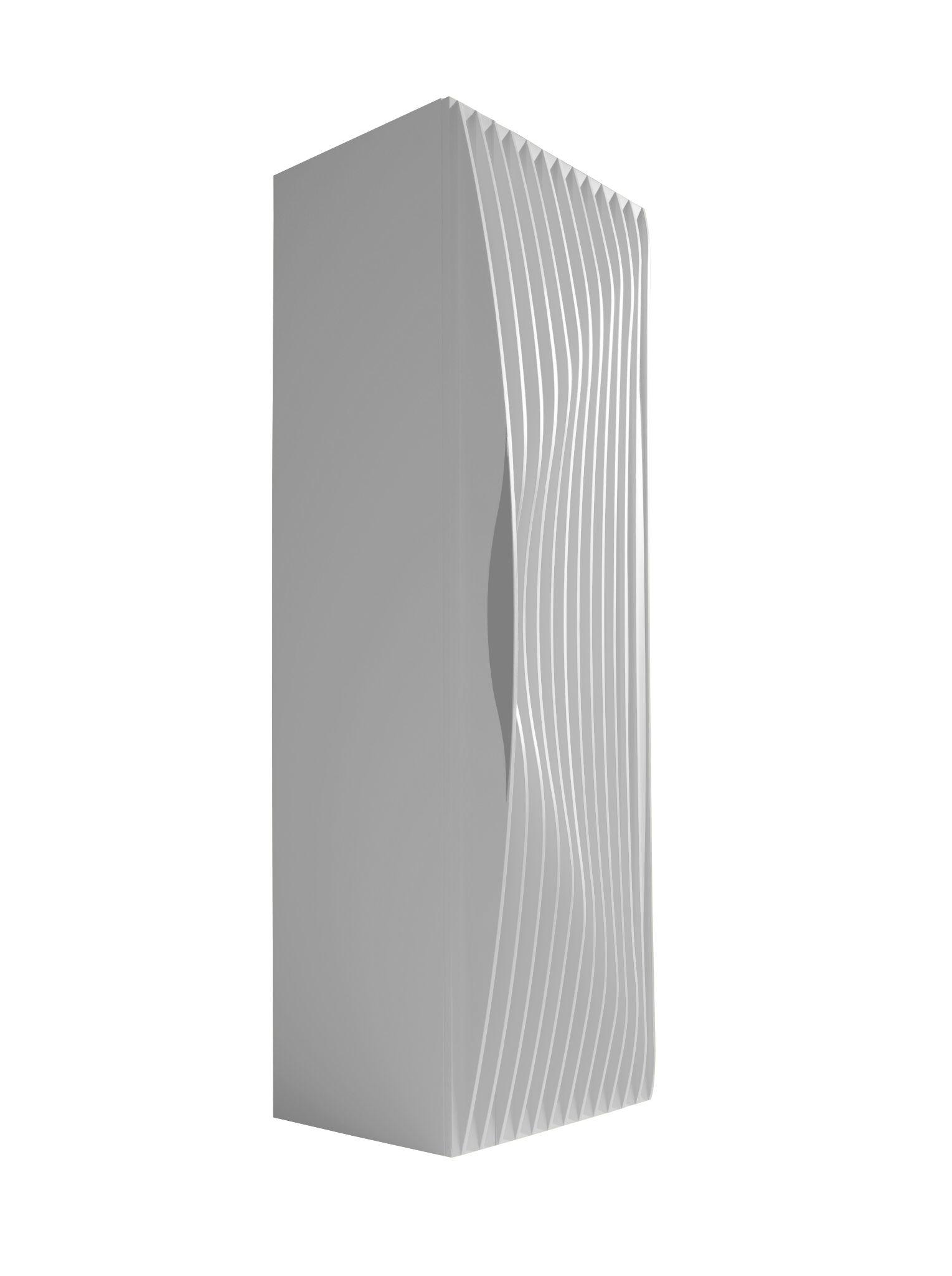Arredamento - Contenitori, Credenze... - Armadio Blend - 1 porta di Horm - Bianco - MDF