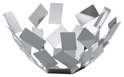 Accessories - Bathroom Accessories - La Stanza dello Scirocco Basket - Ø 27 cm x H 13 cm by Alessi - Polished steel - Polished stainless steel