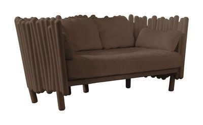 Canapé droit Canisse L 173 cm Serralunga marron en tissu