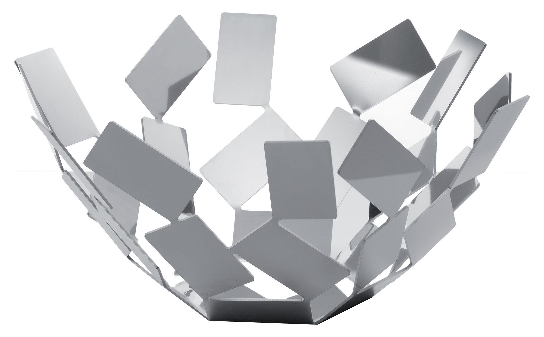 Accessori moda - Accessori bagno - Cesto La Stanza dello Scirocco - Ø 27 cm x h 13 cm di Alessi - Acciaio lucido - Acciaio inossidabile lucido