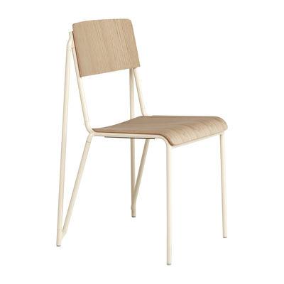 Chaise empilable Petit standard / Acier & bois - Hay bois naturel en bois