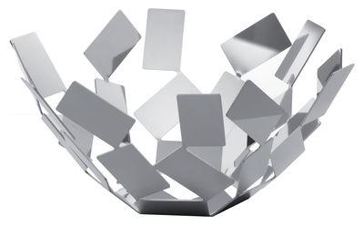 Corbeille La Stanza dello Scirocco / Ø 27 x H 13 cm - Alessi acier poli en métal
