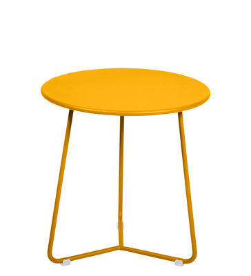 Furniture - Coffee Tables - Cocotte End table - / Stool - Ø 34 x H 36 cm by Fermob - Honey - Painted steel