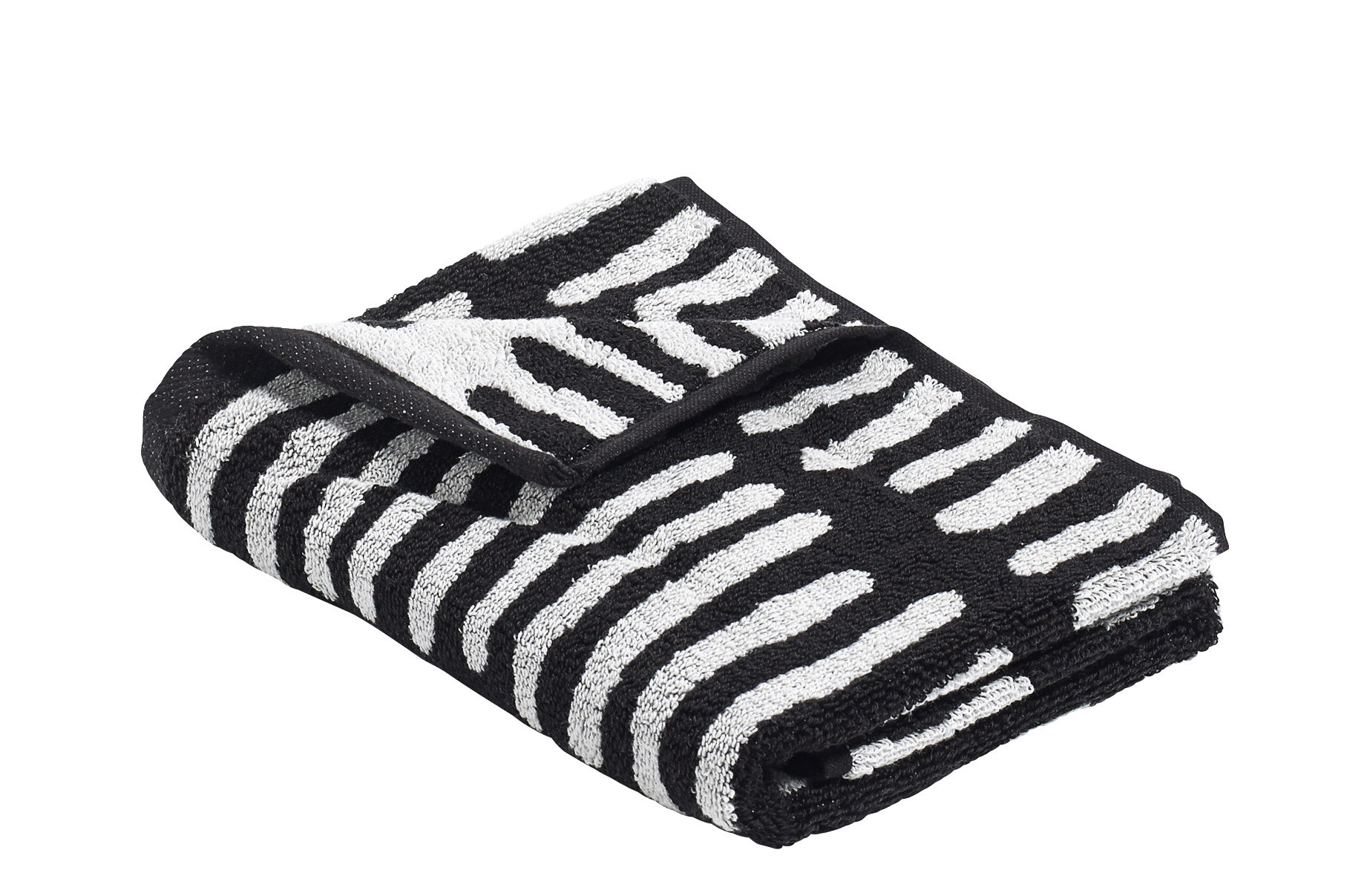 Accessories - Bathroom Accessories - He She It Hand towel - by Nathalie du pasquier/ 70 x 50 cm by Hay - He / Black - Cotton