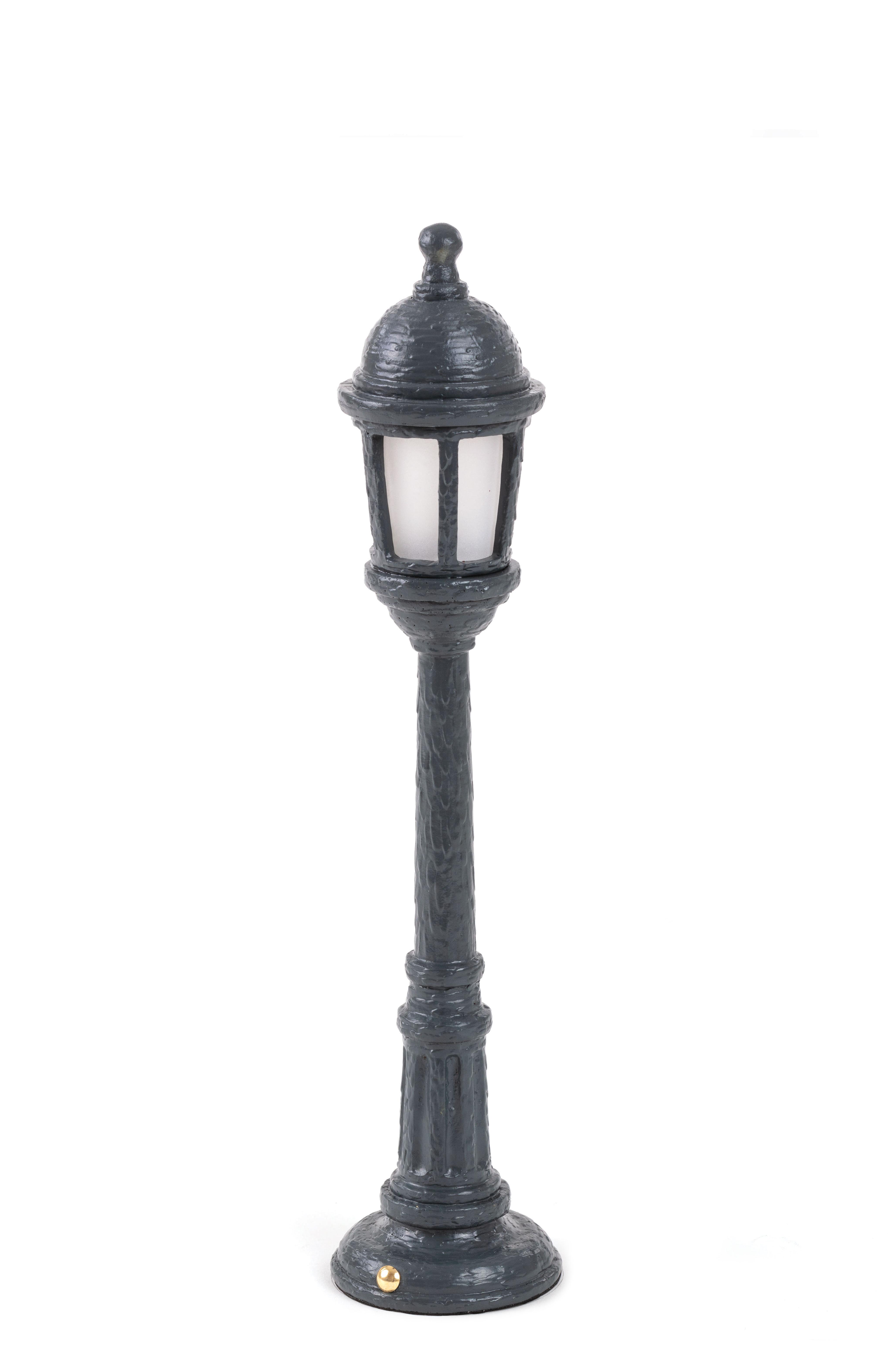 Luminaire - Lampes de table - Lampe sans fil Street Lamp Outdoor / H 42 cm - Recharge USB - Seletti - Gris - Résine