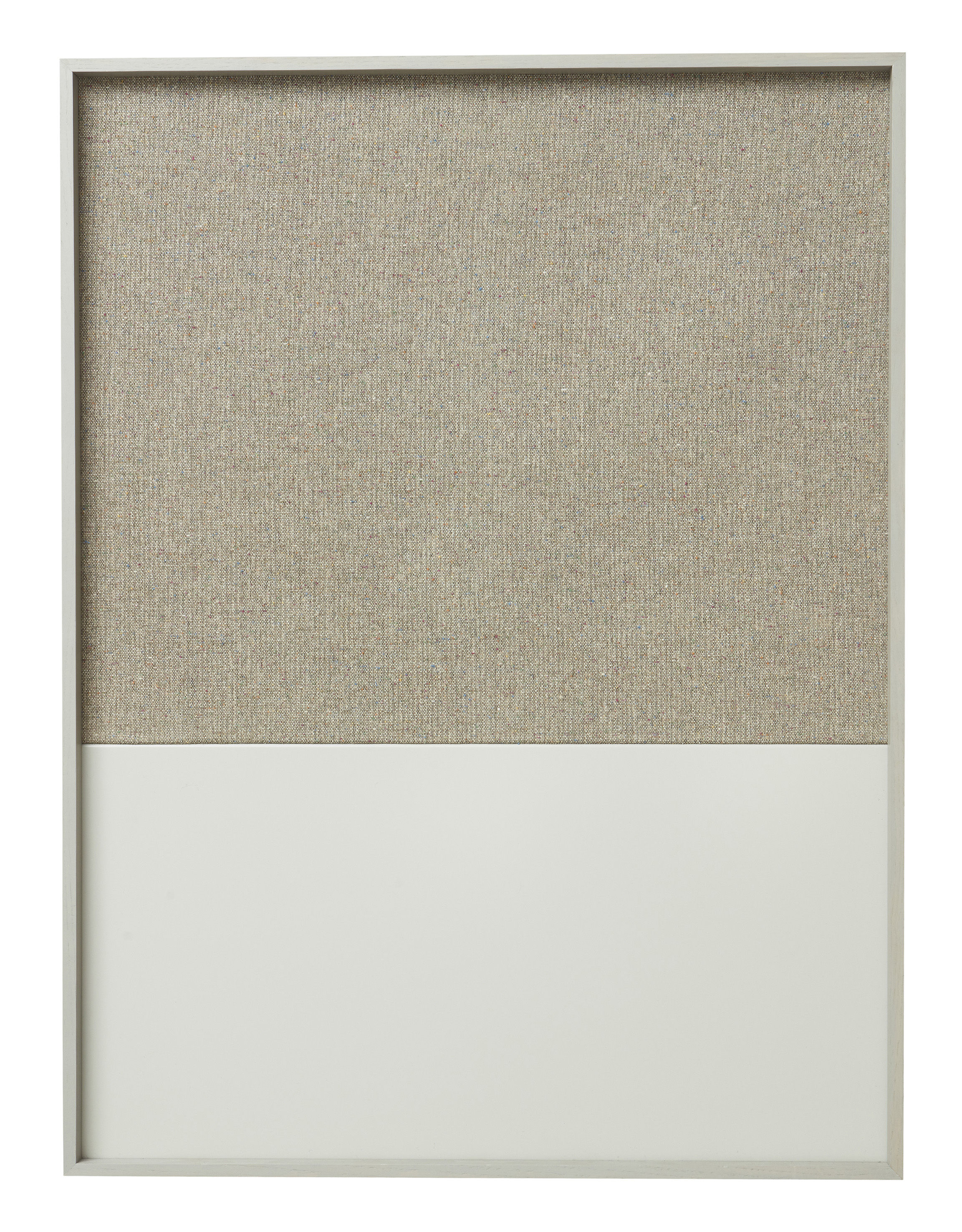 Accessories - Desk & Office Accessories - Frame Pinboard Memo board - 62 x 82 cm by Ferm Living - Grey - Cork, Cotton, Lacquered metal, Oak